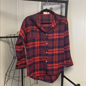Shangruya Plaid Shirt